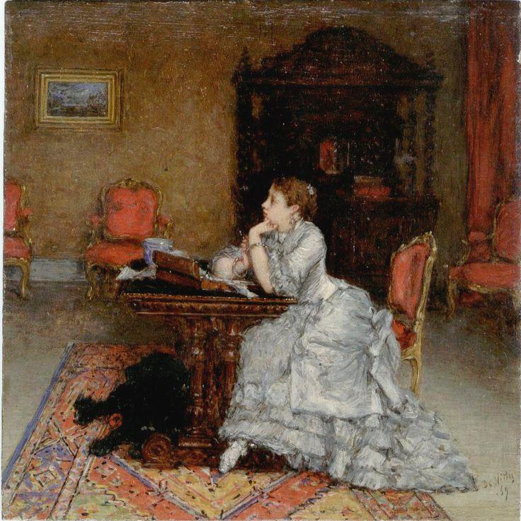 1869 Love Letter ~ Giuseppe De Nittis ~ (Italian, 1846-1884)