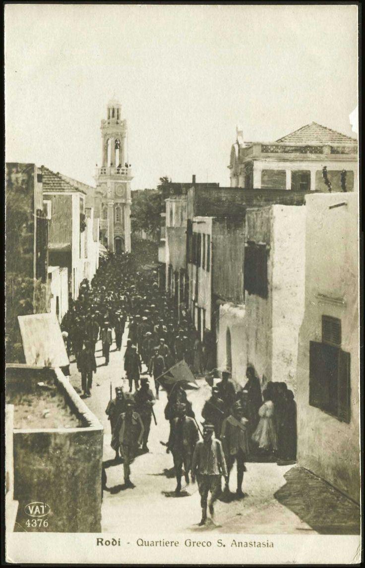 1912  Είσοδος Ιταλικών στρατευμάτων από Αγία Αναστασία