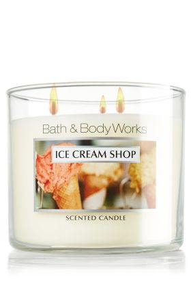 Ice Cream Shop candle- Just like the perfect ice cream sundae - creamy vanilla, rich toffee and sweet almond blossom with a cherry on top.