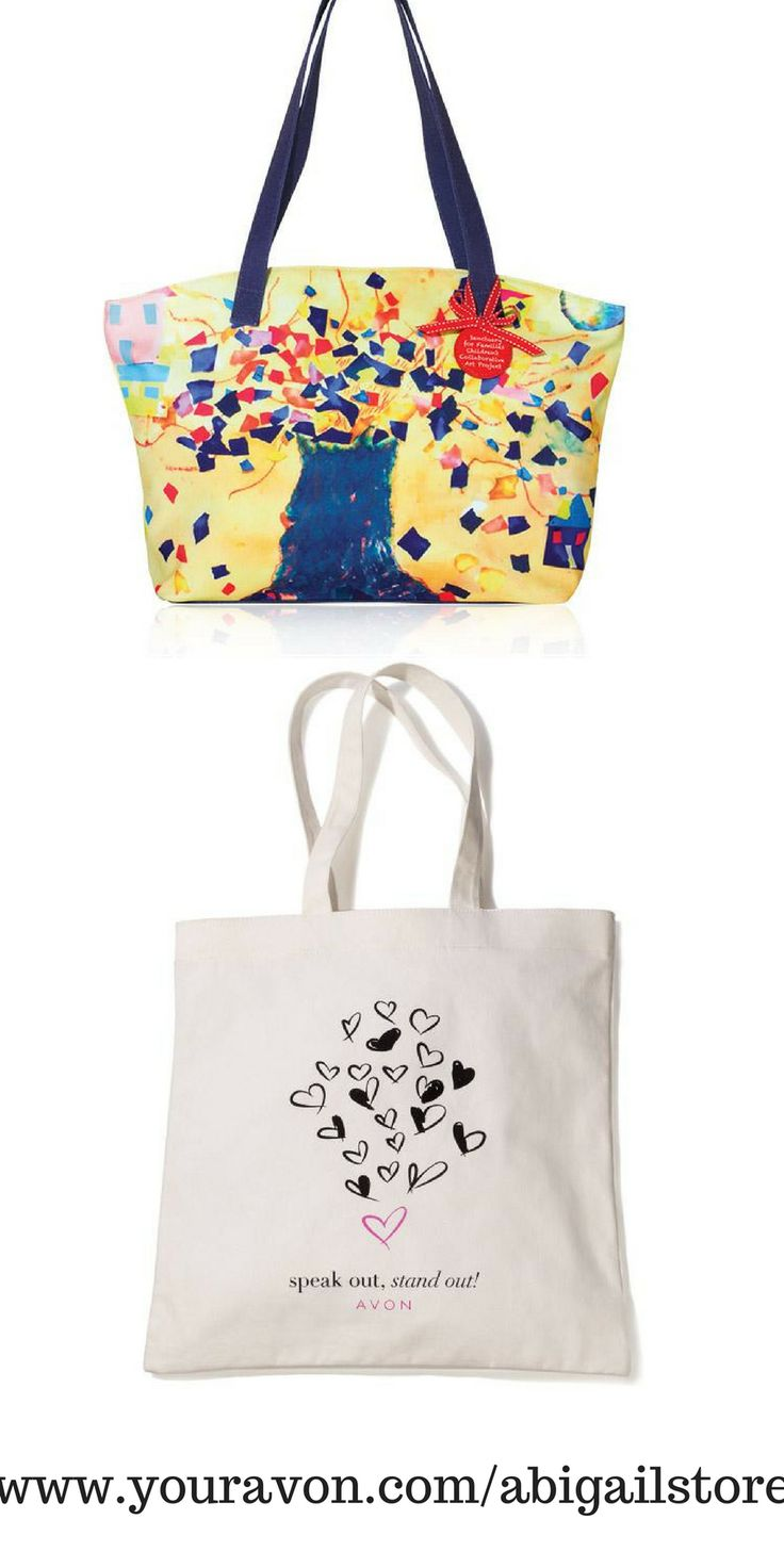 """Branching Out Empowerment Tote Printed canvas with navy straps and base. Fully lined. Inner zip pocket and two slip pockets. Zip closure. Polyester. 13"""" L x 4"""" W x 10"""" H with 10"""" handle drop."""
