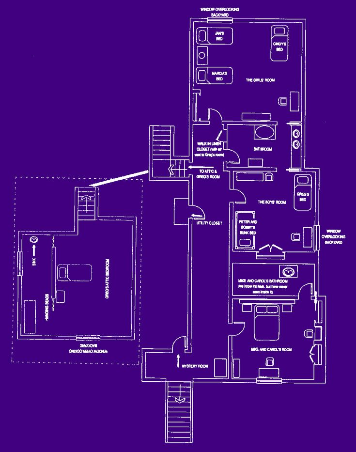 17 best images about the brady bunch on pinterest ann b for Brady bunch house blueprints