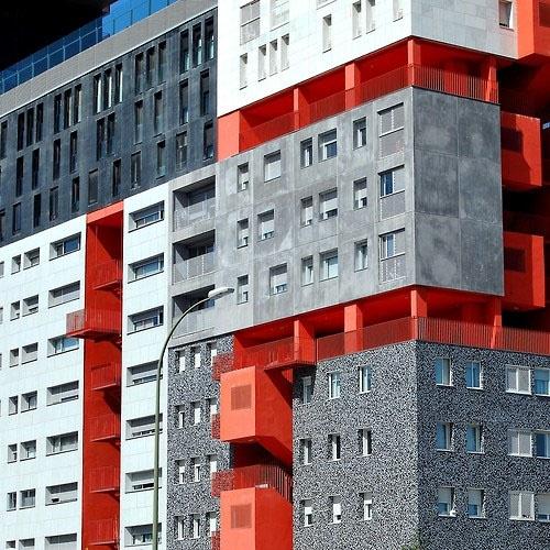 hoekig, blokjes, geometrisch