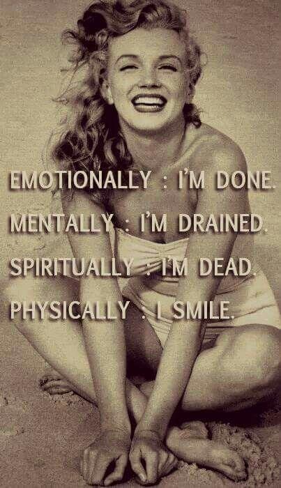 So sad she was so unhappy when she made so many others happy:
