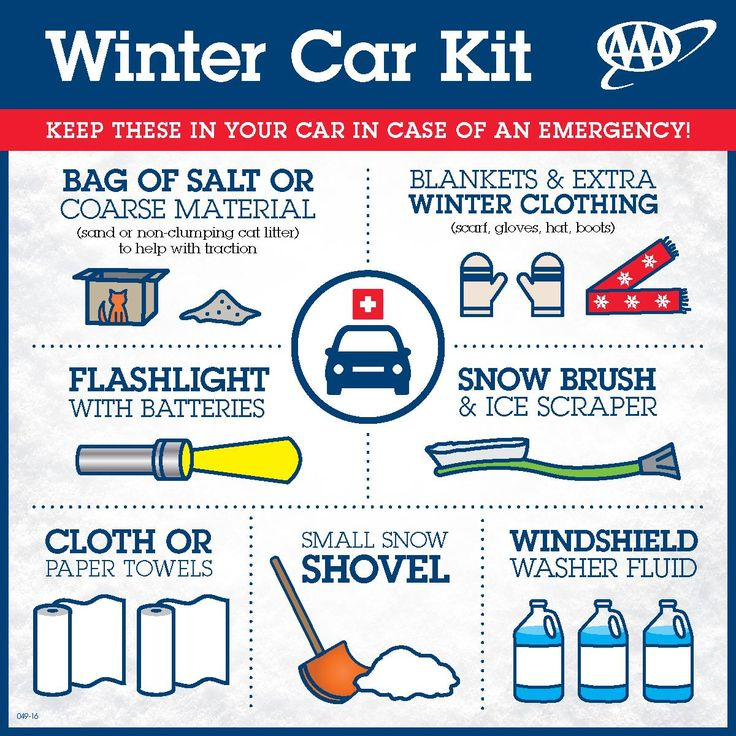 Winter car kit from aaa keep these items in your car in
