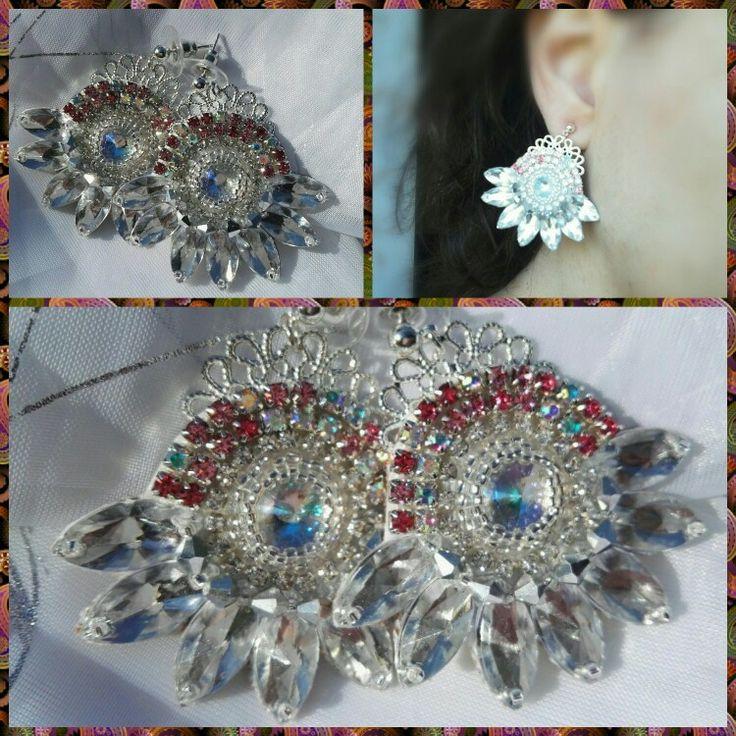 Diamonds -handmade earrings