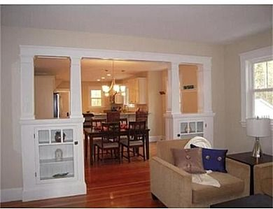 The Bungalow Craftsman Room Divider Beams And Built In Bookshelves With Doors Inside 2018 Building Living