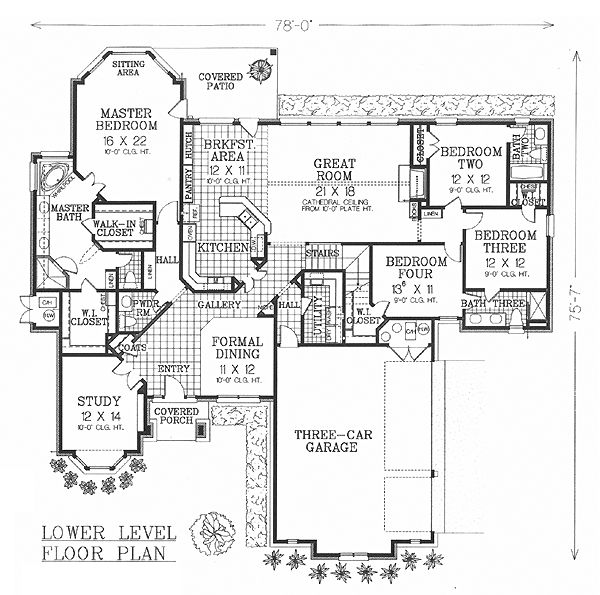55 best house plans images on pinterest arquitetura for 3000 sq ft gym layout