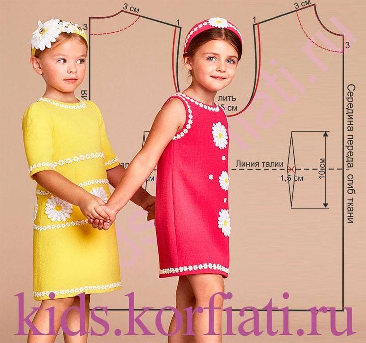 Эти потрясающие платья создали специально для детской коллекции великие кутюрье Дольче & Габбана. Несмотря на то, что они выглядят роскошно и совсем не по-детски, сшить такие платья можно очень быстро. Выкройка детского платья моделируется...