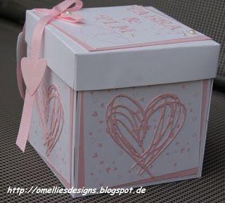 Omellie's Designs: Explosion Box zur Hochzeit