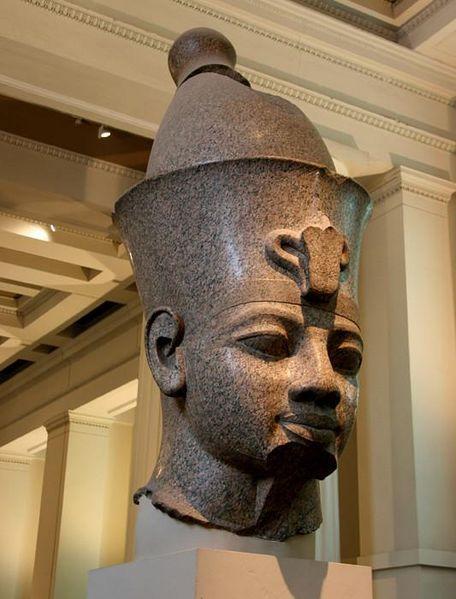 File:England; London - The British Museum, Egypt Egyptian Sculpture ~ Colossal granite head of Amenhotep III (Room 4).2.JPG