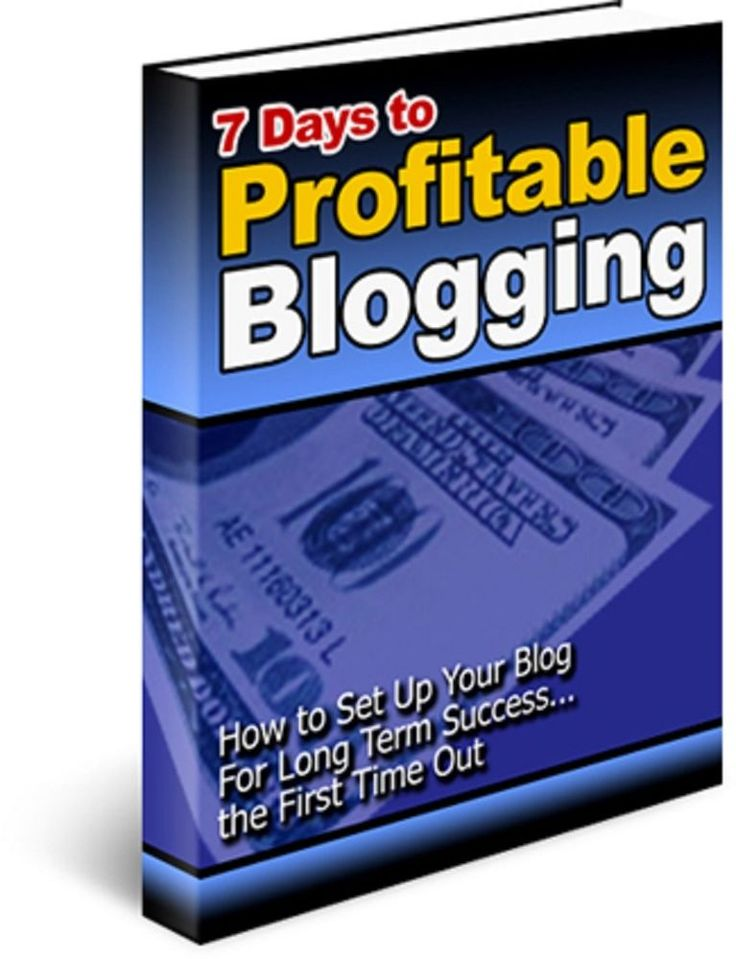 'Seven Days to Profitable Blogging'   book---CD