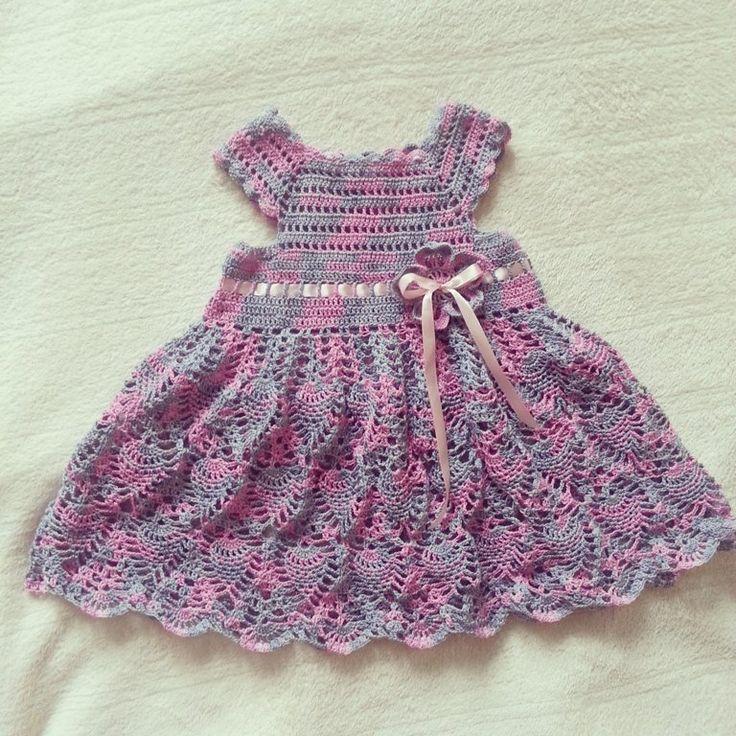 Summer openwork dress for girl
