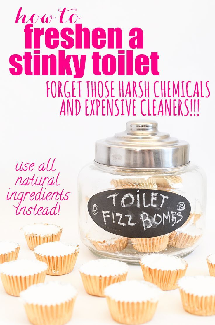 The All-Natural Way to Freshen a Stinky Toilet! Forget those harsh chemicals and expensive cleaners... use all natural ingredients instead!
