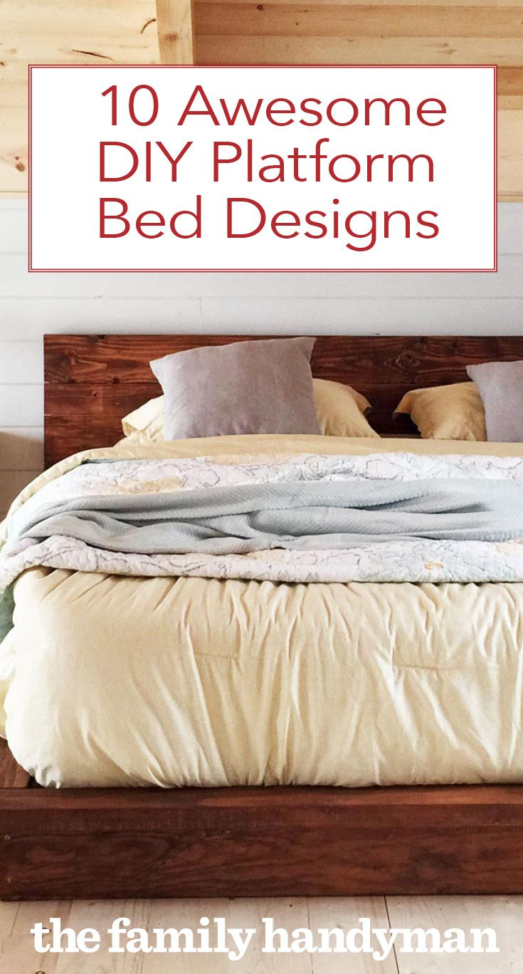 10 Awesome DIY Platform Bed Designs | Inspiration | Platform bed