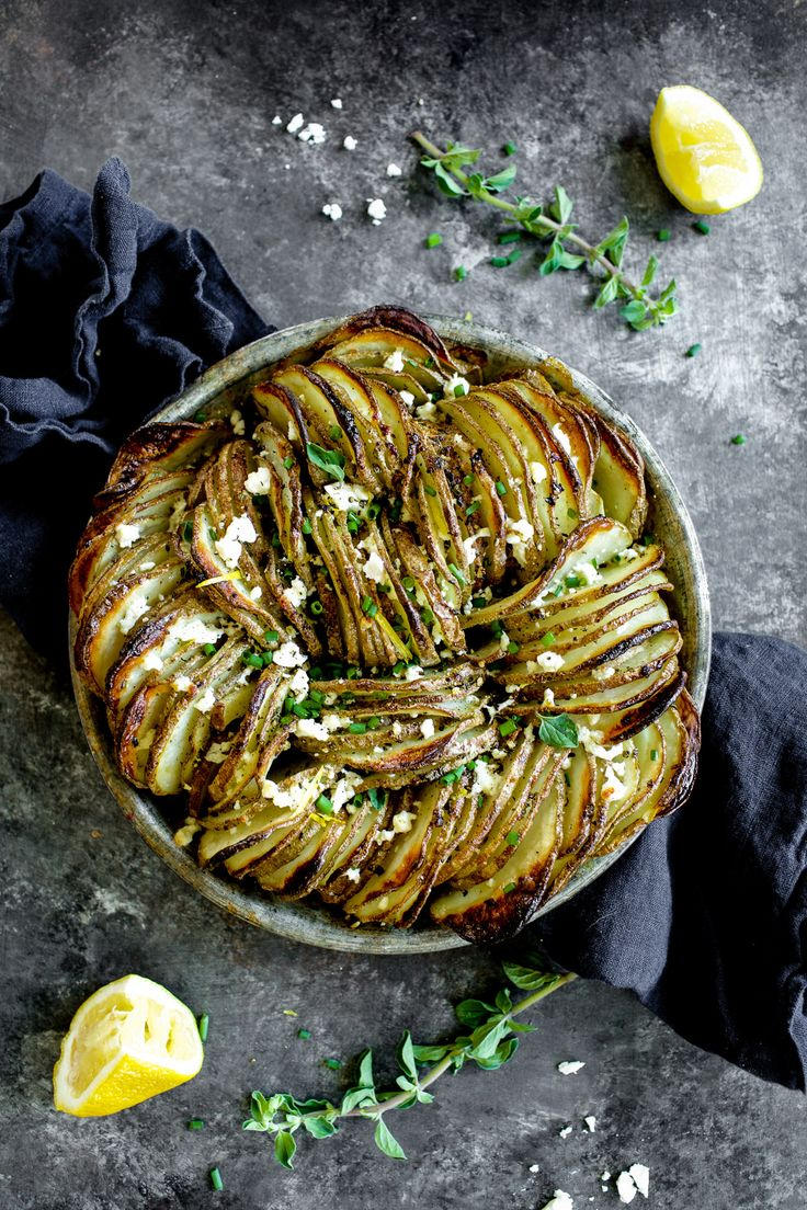 Greek Hasselback Potato Gratin