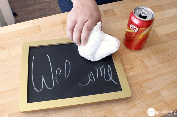 Wash Chalkboards With Cola