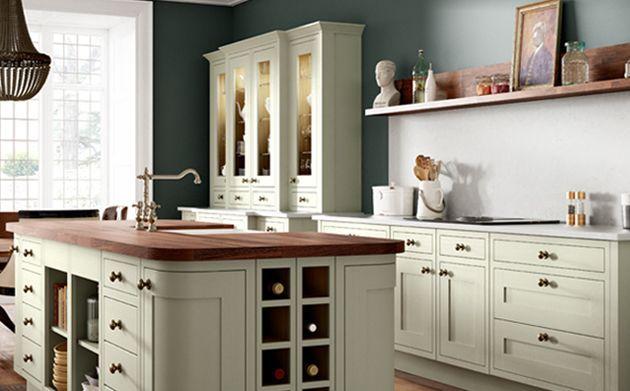 Heritage Sage Green Kitchen Wickes Co Uk Heritage Kitchen Kitchen Design Decor Kitchen Decor Themes Coffee
