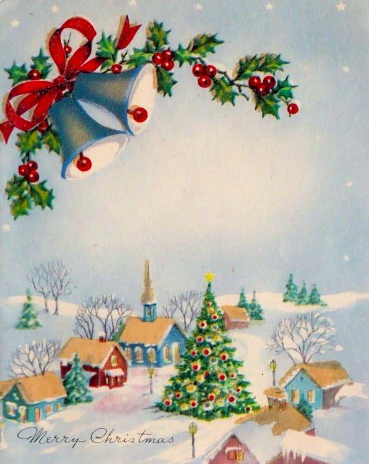 Открытки с рождеством колокольчики, картинки дню