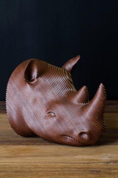 Rino - Fusión de la escultura y diseño logrado en madera, obra del despacho mexicano SPADA.   #Rino #Rinoceronte #Arte #Diseño #Escultura #Mexico #DF #CDMX #DiseñoMexicano #ArteMexicano #Madera #MexicanDesing #MexicanArt #HechoenMexico #MadeinMexico #EstiloMexicano