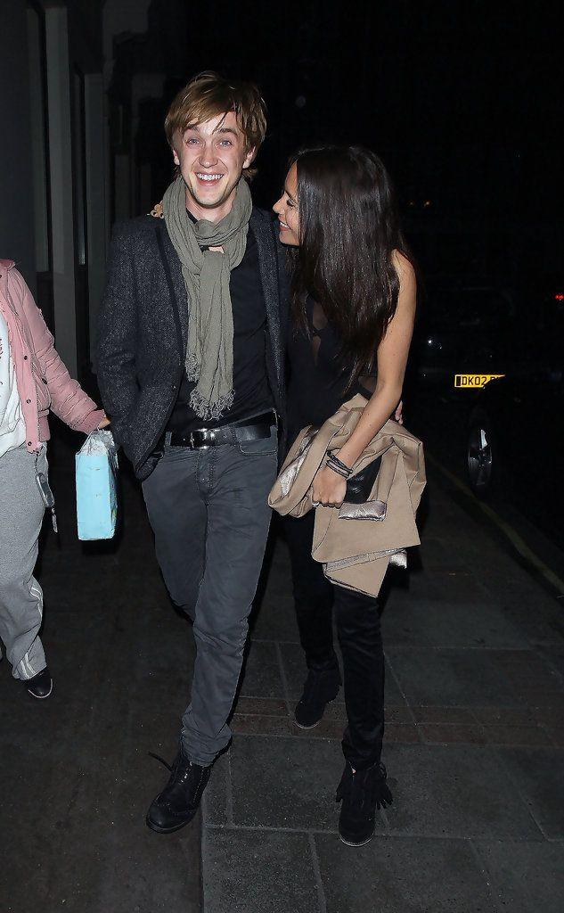 Tom Felton - Tom Felton Leaves Nobu with Jade Olivia