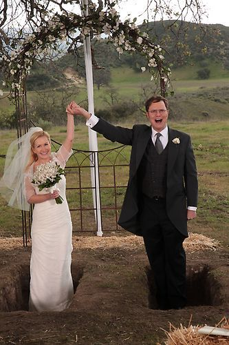 "Angela and Dwight say ""I Do"" 