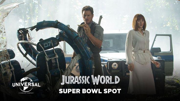 Jurassic World - Official Super Bowl Spot! #jurassicworld #jurassicpark #superbowl #film #movies #trailer
