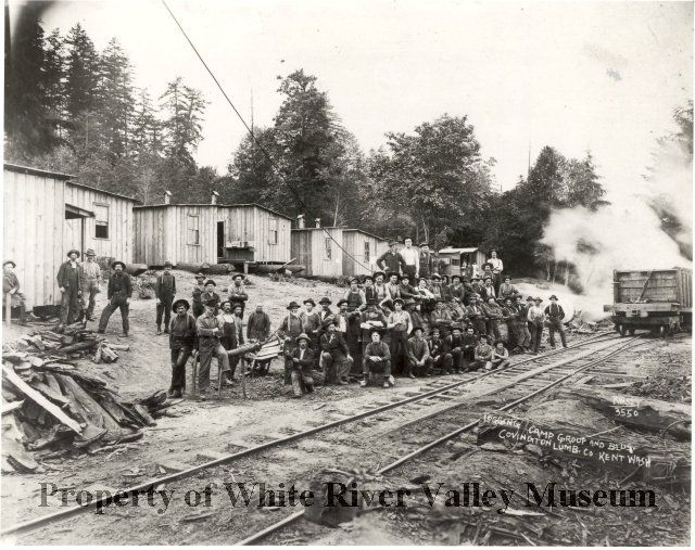 Logging Camp Group early 1900's.