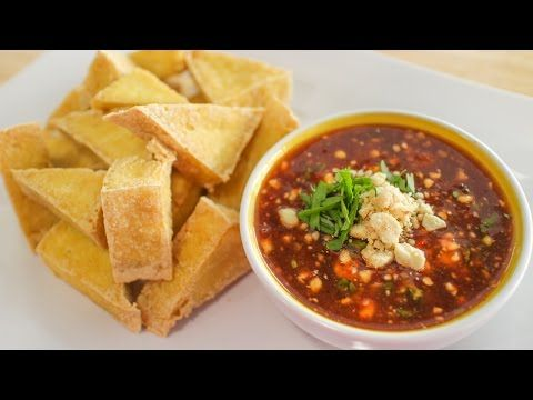 90 best thai food recipes images on pinterest thai food recipes fried tofu with sweet chili peanut sauce recipe video tutorial forumfinder Gallery