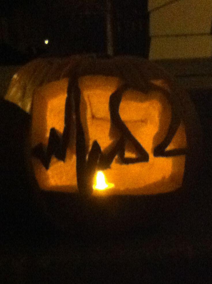 Pumpkin Ekg Heart Carving Made By Me Long Qt