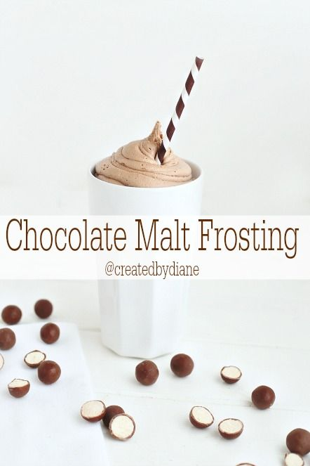 Chocolate Malt Frosting made with Real California #milk ingredients via @createdbydiane. #dairy #butter