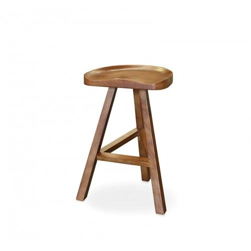 Hugo Bar Stool 62cm Walnut Ash