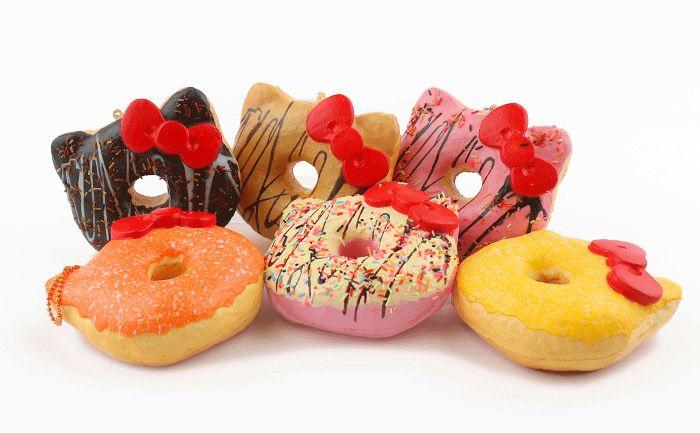 Strapya World : Sanrio Hello Kitty Squishy Big Donut Ball Chain (Lemon)