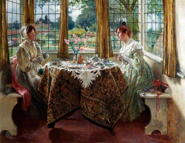 Afternoon Tea by Walter Dendy Sadler (1854–1923 British)
