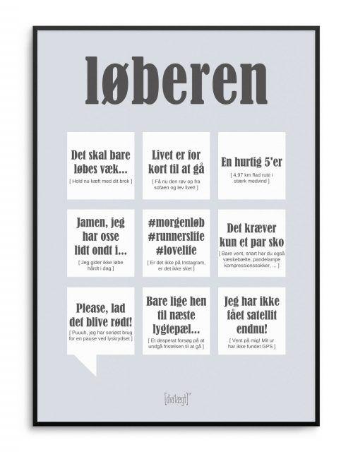 løbe citater Sjov plakat med løber citater fra Dialægt | Dialægt | Quotes  løbe citater