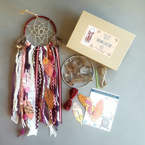 Amazon.com: Red DIY Dreamcatcher Kit. Make Your Own Craft Project or Birthday Gifts for Girls by The House Phoenix: Handmade