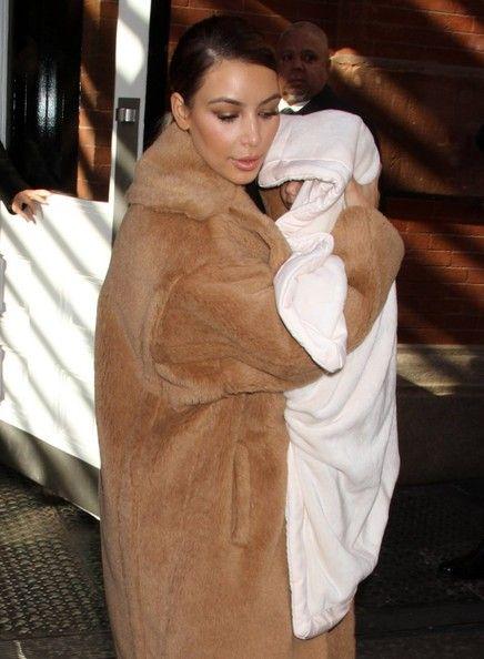 Kim Kardashian and baby Nori
