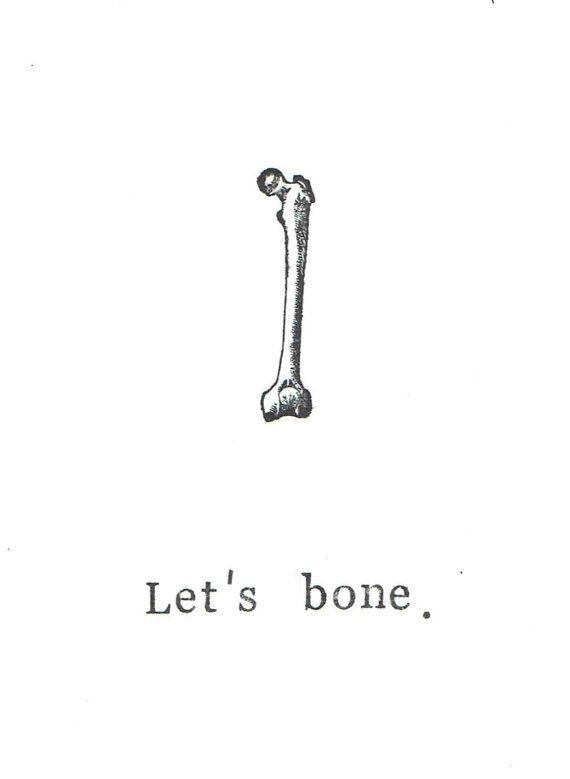 Laten we been Card  Grappige skelet anatomie wetenschap hou