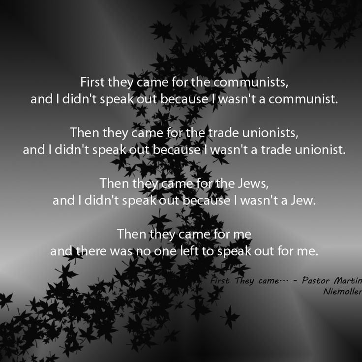 Image result for first they came poem