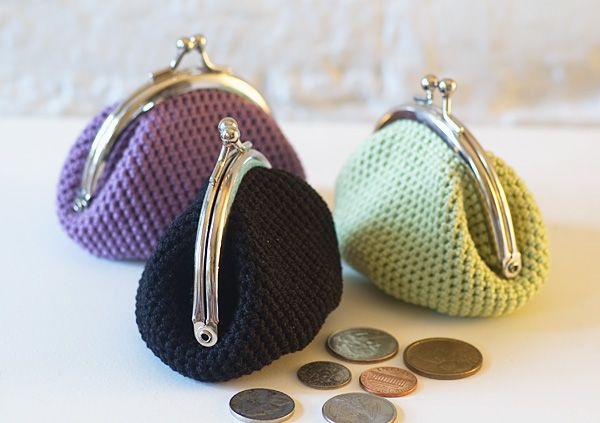 "Crochet Coin Purse Tutorial | This crochet coin pouch reminds me of my first ""Purse"" when I was four ..."