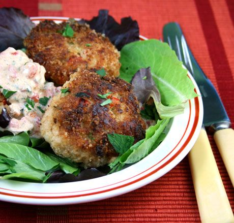 ... Cod Cakes with Red Pepper, Tarragon and Yogurt Remoulade @Lydia