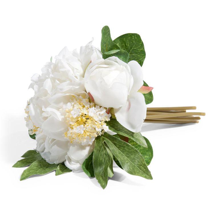 white peony bouquet H 25cm   Maisons du Monde