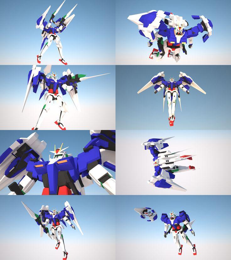 make Gundam 00 Raiser in 3DS Max