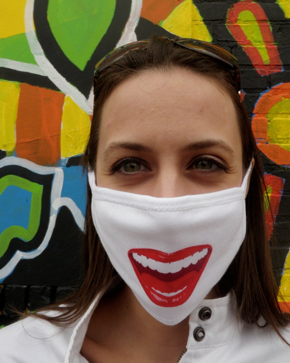 Fun Surgical Mask Healthy Grin For Diy Dust By Danielmatlach