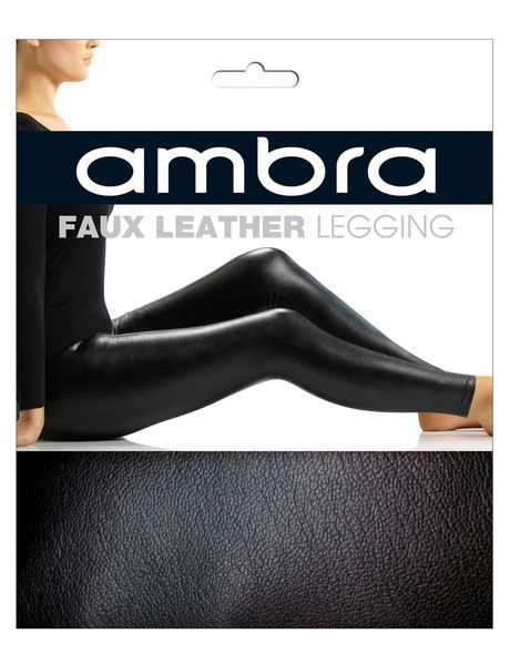 Ambra Faux Leather Legging, Black product photo
