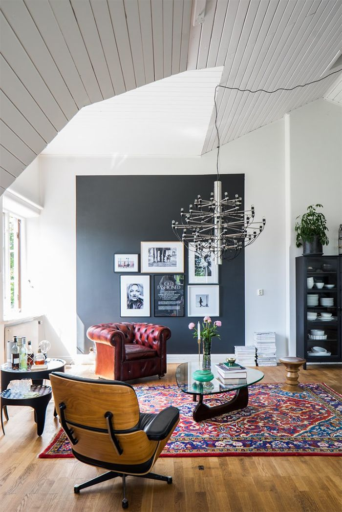 Classic meets mid-century modern in this home