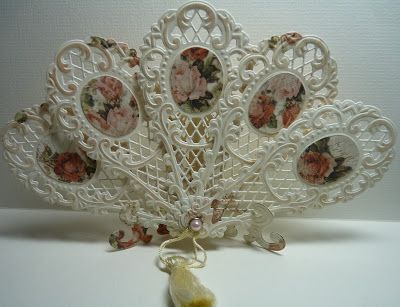 Anja Design: paper fan - Easel and Fan using Marianne Creatables Design Dies
