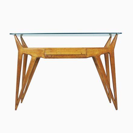 Italienischer Konsolentisch Aus Holz U0026 Glas, 1940er Jetzt Bestellen Unter:  ...
