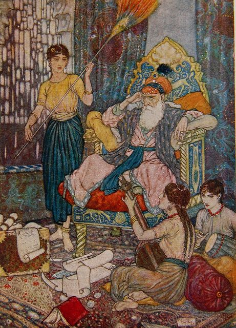 Edmund Dulac illustration in Rubáiyát of Omar Khayyám by Crossett Library Bennington College