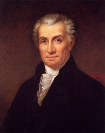 President James Monroe, painted by Rembrandt Peale about 1824-1825