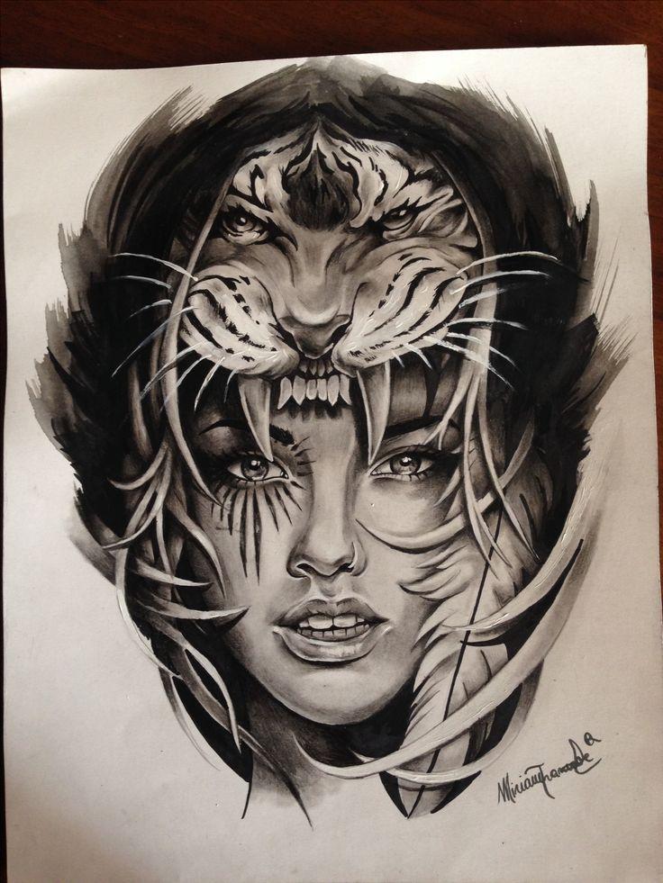 Black And Grey Tattoo Stencil: New Draw Black&white #flash #stencil #tattoo #art